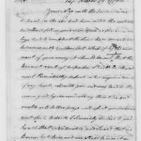 Samuel Culper to Benjamin Tallmadge, October 29, 1779